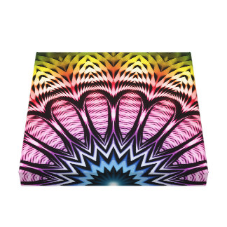 Spectrum Sun Flower Canvas Print