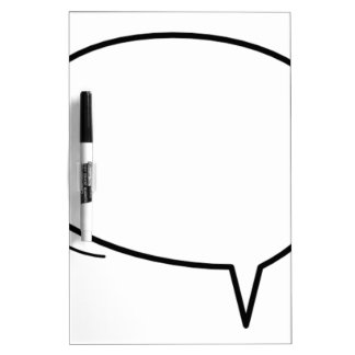 Speech Bubble - add your own text! Dry Erase Whiteboards
