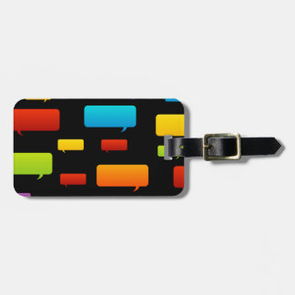 speech bubble background bag tag