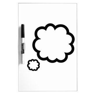 Speech bubble cloud dry erase board