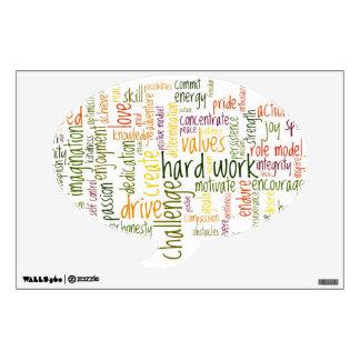 Speech Bubble Decal - Motivational Words #2