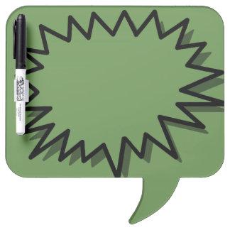 SPEECH BUBBLE DRY ERASE BOARD, GREEN WRITING BOARD