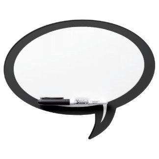 Speech Bubble Dry Erase Marker Board w/Pen