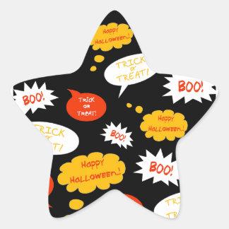 speech bubble halloween star sticker