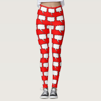 Speech Bubbles 2 Choose background color Leggings