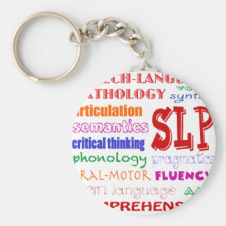 Speech Language Pathologist Colorful Fun Font Keychain