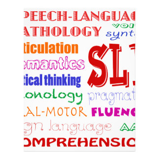 Speech Language Pathologist Colorful Fun Font Letterhead
