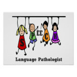 Speech-Language Pathologist Kids Poster