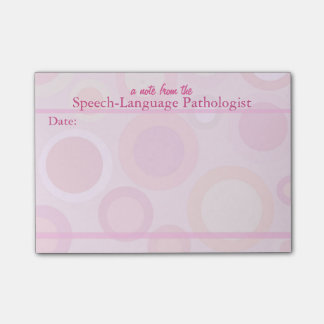 Speech-Language Pathologist Pastel Sticky Notes