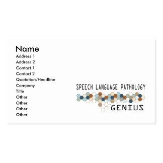 Speech Language Pathology Genius Pack Of Standard Business Cards