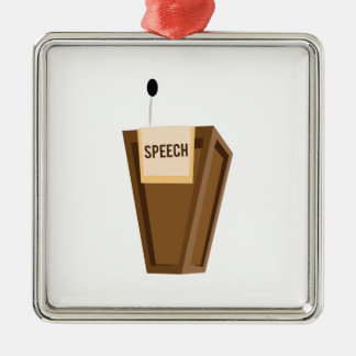 Speech Metal Ornament