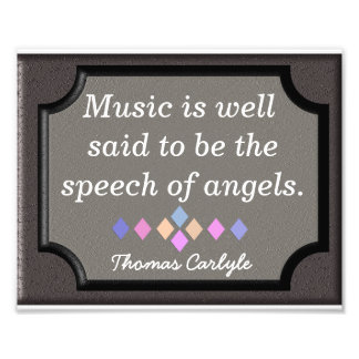Speech of Angels -Thomas Carlyle - print Photo Print