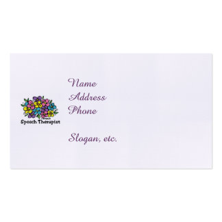 Speech Therapist Blooms1 Double-Sided Standard Business Cards (Pack Of 100)