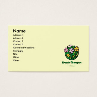 Speech Therapist Blooms1 Business Card