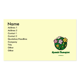 Speech Therapist Blooms1 Pack Of Standard Business Cards