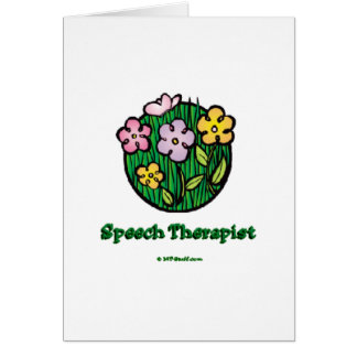 Speech Therapist Blooms Card