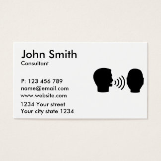 Speech therapist business card