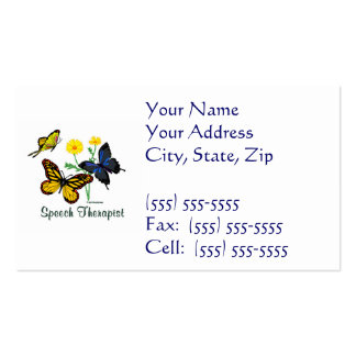Speech Therapist Butterflies Double-Sided Standard Business Cards (Pack Of 100)