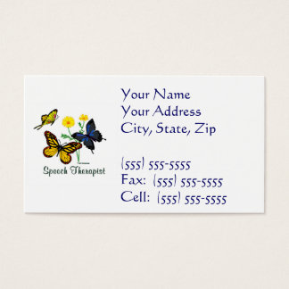 Speech Therapist Butterflies Business Card