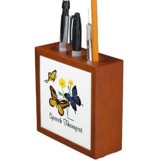 Speech Therapist Butterflies Desk Organizer