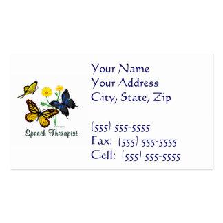 Speech Therapist Butterflies Pack Of Standard Business Cards