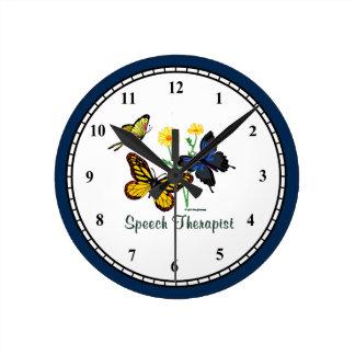 Speech Therapist Butterflies Wallclocks