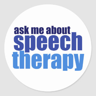 Speech Therapist Classic Round Sticker