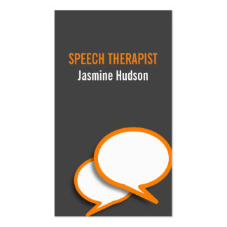Speech Therapist Counseling Center Pack Of Standard Business Cards