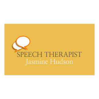 Speech Therapist Counseling & Mental Health Business Card