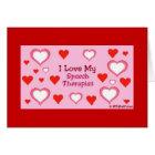 Speech Therapist Hearts Card
