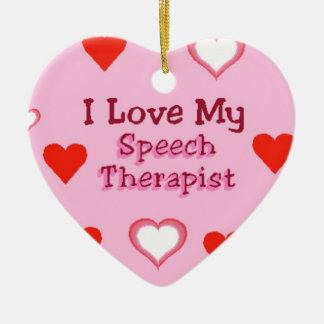 Speech Therapist Hearts Ceramic Heart Ornament