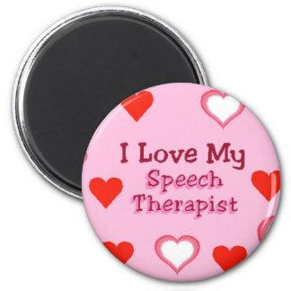 Speech Therapist Hearts Magnet