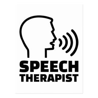Speech therapist postcard