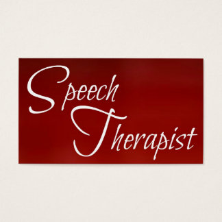 Speech Therapist Red Business Card