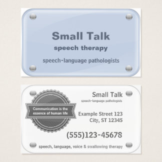 Speech Therapist - Speech-Language Pathologists Business Card