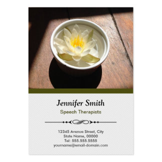 Speech Therapists - Elegant Water Lily Appointment Pack Of Chubby Business Cards