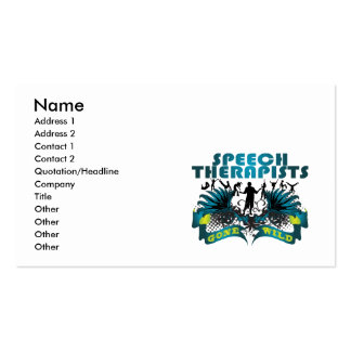 Speech Therapists Gone Wild Pack Of Standard Business Cards