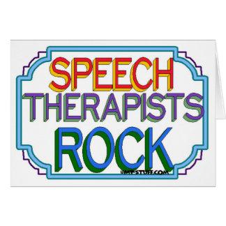 Speech Therapists Rock Card