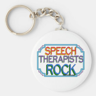 Speech Therapists Rock Keychain