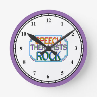 Speech Therapists Rock Wallclock