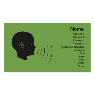 Speech Therapy Double-Sided Standard Business Cards (Pack Of 100)