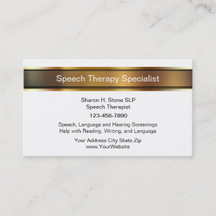 Speech therapy business cards profile cards zazzle ca speech therapy business cards colourmoves