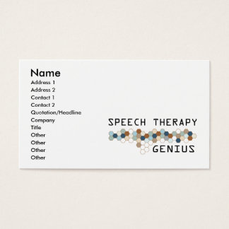Speech Therapy Genius Business Card
