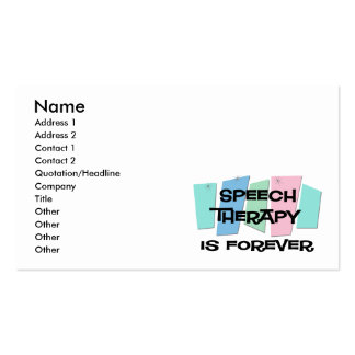 Speech Therapy Is Forever Double-Sided Standard Business Cards (Pack Of 100)