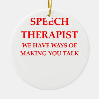 speech therapy round ceramic ornament