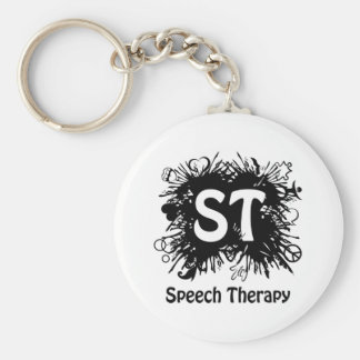 Speech Therapy splash Basic Round Button Keychain