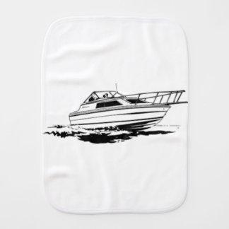 Speed Boat Cruiser Burp Cloth