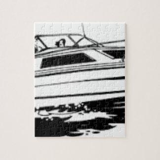 Speed Boat Cruiser Jigsaw Puzzle