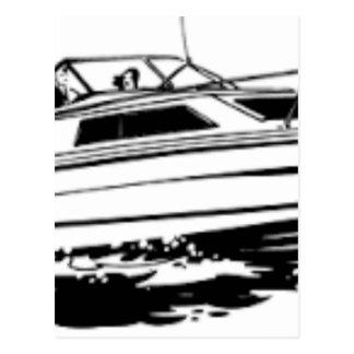 Speed Boat Cruiser Postcard