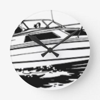 Speed Boat Cruiser Round Clock